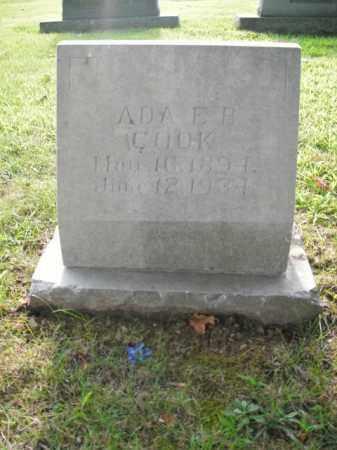 COOK, ADA E.B. - Boone County, Arkansas | ADA E.B. COOK - Arkansas Gravestone Photos