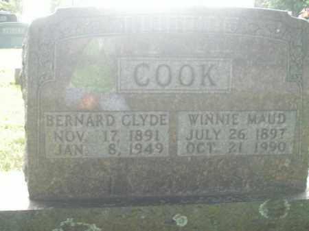 COOK, BERNARD CLYDE - Boone County, Arkansas | BERNARD CLYDE COOK - Arkansas Gravestone Photos