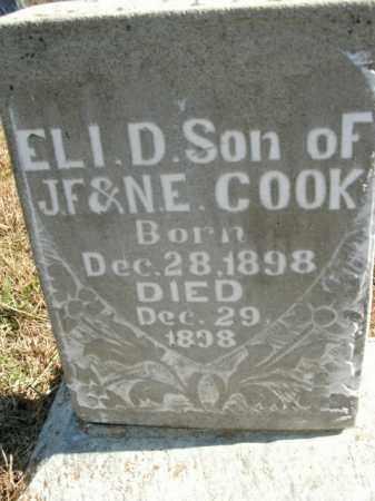 COOK, ELI D. - Boone County, Arkansas | ELI D. COOK - Arkansas Gravestone Photos