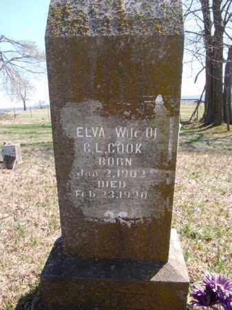 COOK, ELVA - Boone County, Arkansas   ELVA COOK - Arkansas Gravestone Photos
