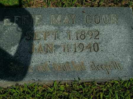 COOK, EFFIE MAY - Boone County, Arkansas   EFFIE MAY COOK - Arkansas Gravestone Photos