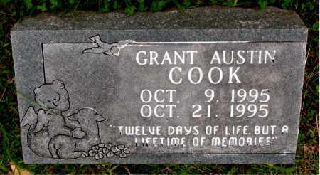 COOK, GRANT AUSTIN - Boone County, Arkansas | GRANT AUSTIN COOK - Arkansas Gravestone Photos