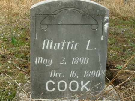 COOK, MATTIE L. - Boone County, Arkansas | MATTIE L. COOK - Arkansas Gravestone Photos