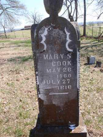 COOK, MARY S. - Boone County, Arkansas   MARY S. COOK - Arkansas Gravestone Photos