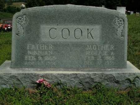 COOK, MOLLIE A. - Boone County, Arkansas   MOLLIE A. COOK - Arkansas Gravestone Photos