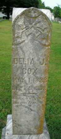 COX, DELIA J. - Boone County, Arkansas | DELIA J. COX - Arkansas Gravestone Photos