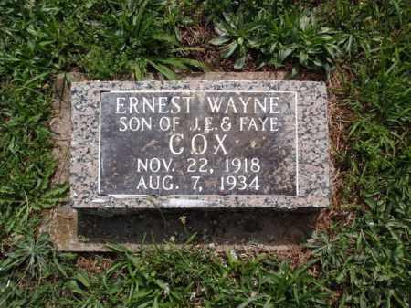 COX, ERNEST WAYNE - Boone County, Arkansas | ERNEST WAYNE COX - Arkansas Gravestone Photos