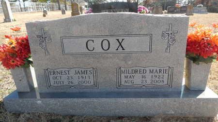 COX, ERNEST JAMES - Boone County, Arkansas | ERNEST JAMES COX - Arkansas Gravestone Photos