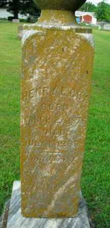 COX, HENRY L. - Boone County, Arkansas   HENRY L. COX - Arkansas Gravestone Photos