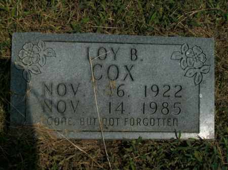 COX, LOY B. - Boone County, Arkansas   LOY B. COX - Arkansas Gravestone Photos