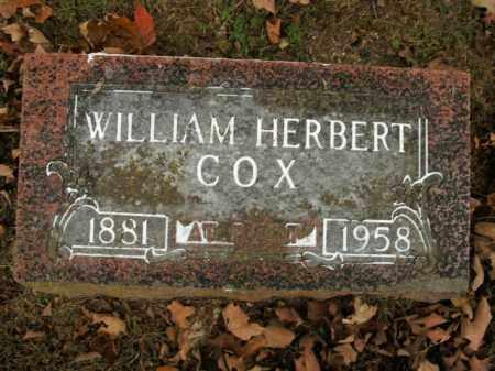 COX, WILLIAM HERBERT - Boone County, Arkansas | WILLIAM HERBERT COX - Arkansas Gravestone Photos