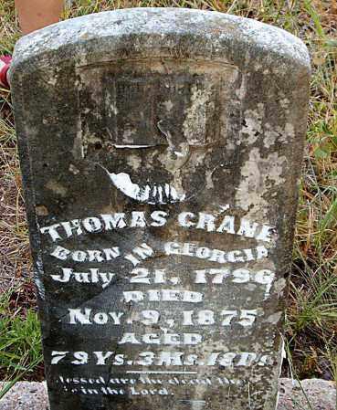CRANE, THOMAS - Boone County, Arkansas | THOMAS CRANE - Arkansas Gravestone Photos