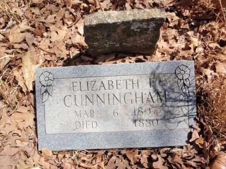 CUNNINGHAM, ELIZABETH F. - Boone County, Arkansas   ELIZABETH F. CUNNINGHAM - Arkansas Gravestone Photos
