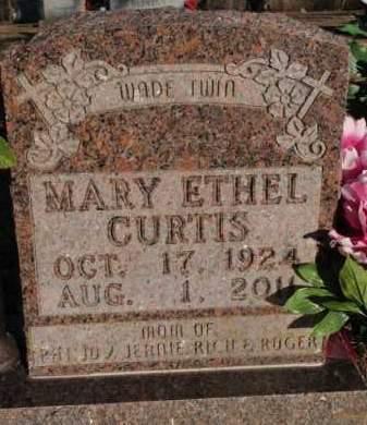 CURTIS, MARY ETHEL - Boone County, Arkansas   MARY ETHEL CURTIS - Arkansas Gravestone Photos