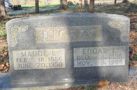DICKEY, EDGAR L - Boone County, Arkansas | EDGAR L DICKEY - Arkansas Gravestone Photos