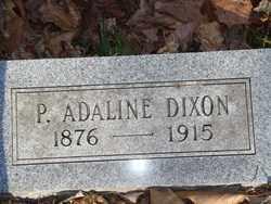 DIXON, P ADALINE - Boone County, Arkansas   P ADALINE DIXON - Arkansas Gravestone Photos