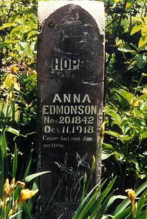 EDMONSON, ANNA - Boone County, Arkansas | ANNA EDMONSON - Arkansas Gravestone Photos