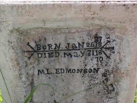 EDMONSON, MARTIN LUTHER - Boone County, Arkansas | MARTIN LUTHER EDMONSON - Arkansas Gravestone Photos