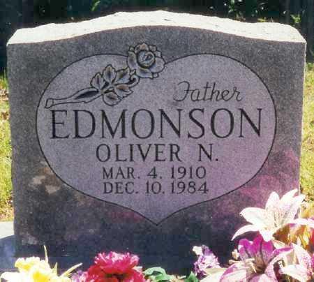 EDMONSON, OLIVER N. - Boone County, Arkansas | OLIVER N. EDMONSON - Arkansas Gravestone Photos