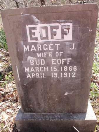 JACKSON EOFF, MARGET - Boone County, Arkansas | MARGET JACKSON EOFF - Arkansas Gravestone Photos
