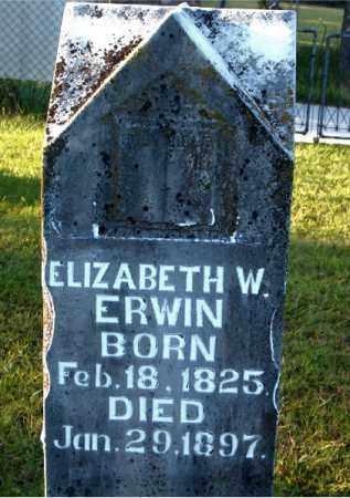 ERWIN, ELIZABETH W. - Boone County, Arkansas   ELIZABETH W. ERWIN - Arkansas Gravestone Photos