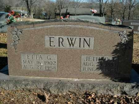 ERWIN, ETTA GERTRUDE - Boone County, Arkansas | ETTA GERTRUDE ERWIN - Arkansas Gravestone Photos