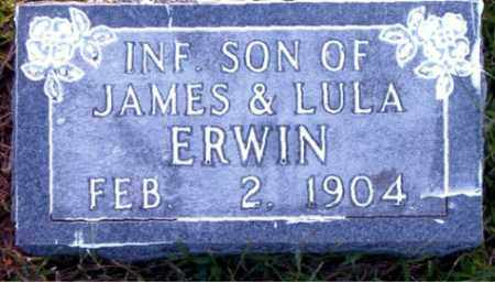 ERWIN, INFANT SON - Boone County, Arkansas | INFANT SON ERWIN - Arkansas Gravestone Photos