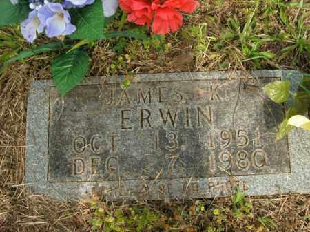 ERWIN, JAMES KIRBY - Boone County, Arkansas | JAMES KIRBY ERWIN - Arkansas Gravestone Photos