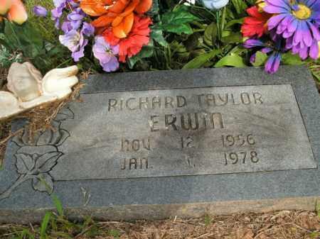 ERWIN, RICHARD TAYLOR - Boone County, Arkansas   RICHARD TAYLOR ERWIN - Arkansas Gravestone Photos