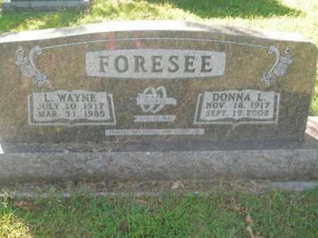 FORESEE, L. WAYNE - Boone County, Arkansas   L. WAYNE FORESEE - Arkansas Gravestone Photos