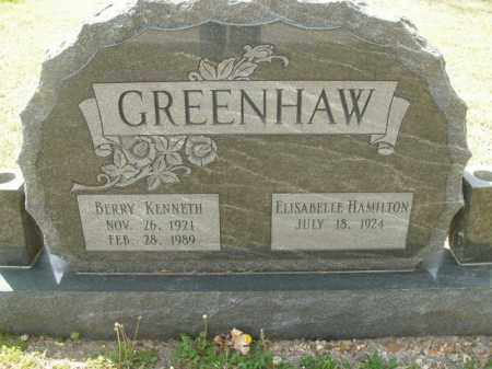 GREENHAW, BERRY KENNETH - Boone County, Arkansas | BERRY KENNETH GREENHAW - Arkansas Gravestone Photos