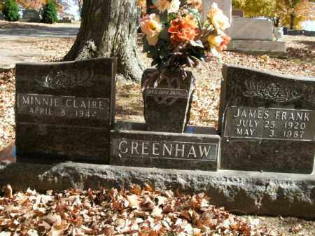 GREENHAW, MINNIE CLAIRE - Boone County, Arkansas | MINNIE CLAIRE GREENHAW - Arkansas Gravestone Photos