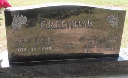 GREENHAW, JENNIE LOUISE - Boone County, Arkansas | JENNIE LOUISE GREENHAW - Arkansas Gravestone Photos