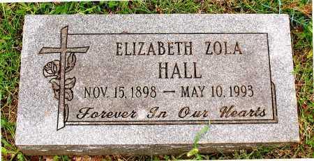 HALL, ELIZABETH ZOLA - Boone County, Arkansas | ELIZABETH ZOLA HALL - Arkansas Gravestone Photos