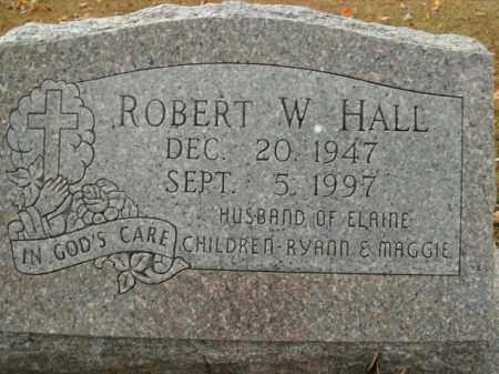 HALL, ROBERT W. - Boone County, Arkansas   ROBERT W. HALL - Arkansas Gravestone Photos