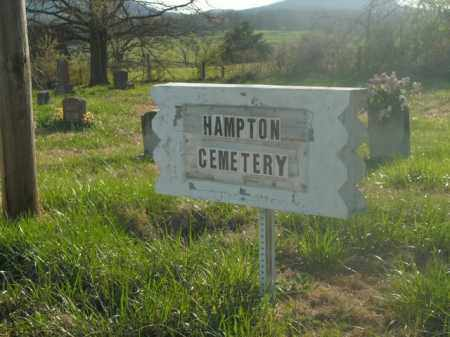 *HAMPTON SIGN,  - Boone County, Arkansas    *HAMPTON SIGN - Arkansas Gravestone Photos