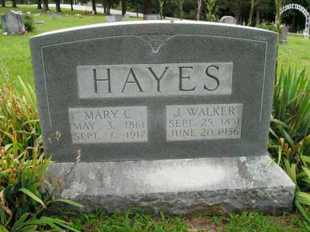 HAYES, MARY C. - Boone County, Arkansas   MARY C. HAYES - Arkansas Gravestone Photos