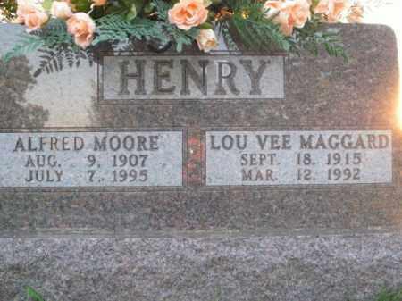 MAGGARD HENRY, LOU VEE - Boone County, Arkansas   LOU VEE MAGGARD HENRY - Arkansas Gravestone Photos