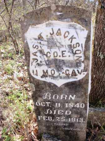 JACKSON  (VETERAN UNION), JAMES TOLIVER - Boone County, Arkansas | JAMES TOLIVER JACKSON  (VETERAN UNION) - Arkansas Gravestone Photos