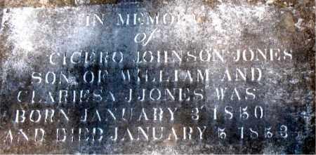 JONES, CICERO  JOHNSON - Boone County, Arkansas | CICERO  JOHNSON JONES - Arkansas Gravestone Photos