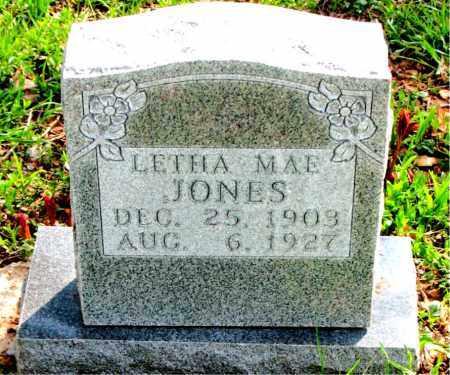 JONES, LETHA  MAE - Boone County, Arkansas | LETHA  MAE JONES - Arkansas Gravestone Photos