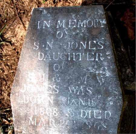 JONES, S. N. - Boone County, Arkansas   S. N. JONES - Arkansas Gravestone Photos