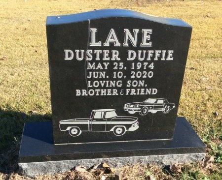 LANE, DUSTER DUFFIE - Boone County, Arkansas | DUSTER DUFFIE LANE - Arkansas Gravestone Photos