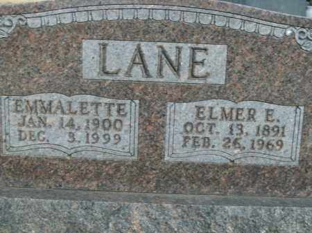 LANE, EMMALETTE - Boone County, Arkansas | EMMALETTE LANE - Arkansas Gravestone Photos