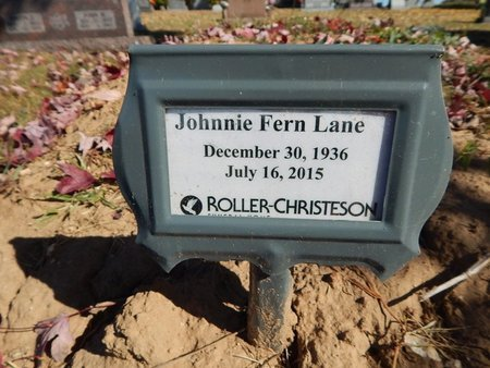 LANE, JOHNNIE FERN - Boone County, Arkansas   JOHNNIE FERN LANE - Arkansas Gravestone Photos
