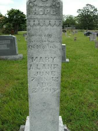 LANE, MARY A. - Boone County, Arkansas   MARY A. LANE - Arkansas Gravestone Photos