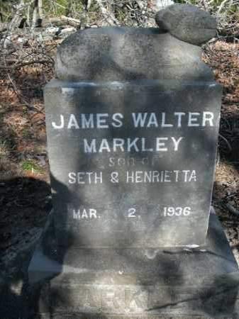 MARKLEY, JAMES WALTER - Boone County, Arkansas   JAMES WALTER MARKLEY - Arkansas Gravestone Photos