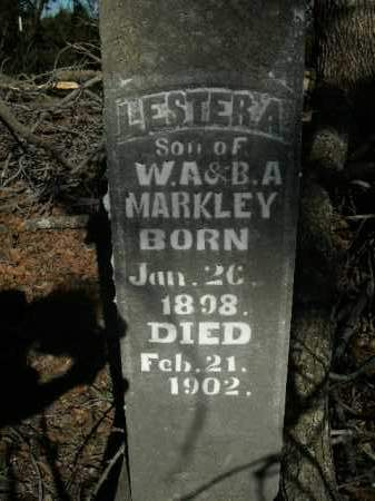 MARKLEY, LESTER A. - Boone County, Arkansas   LESTER A. MARKLEY - Arkansas Gravestone Photos