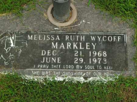 MARKLEY, MELISSA RUTH WYCOFF - Boone County, Arkansas | MELISSA RUTH WYCOFF MARKLEY - Arkansas Gravestone Photos