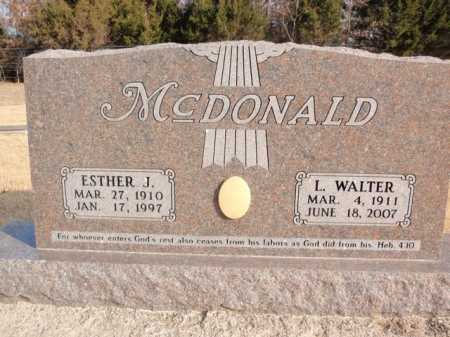 MCDONALD, L. WALTER - Boone County, Arkansas | L. WALTER MCDONALD - Arkansas Gravestone Photos